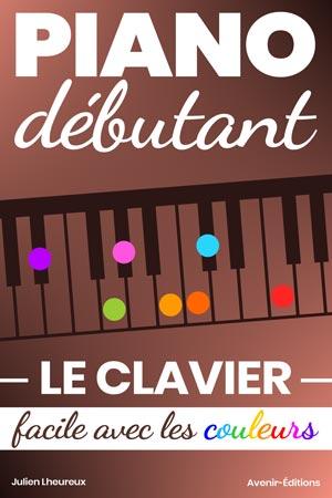 Piano débutants. Le CLAVIER facile avec les couleurs