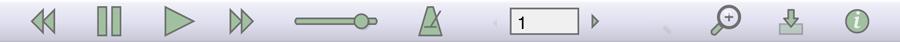 La barre d'outils hors connexion du lecteur de partition